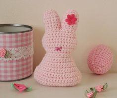 Osterhase rosa häkeln  - schoenstricken.de