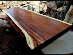 Monkey Pod Wood for sale Hardwood For Sale, Hardwood Lumber, Acacia Wood Furniture, Natural Wood Furniture, Wood Tables For Sale, Wooden Tables, Natural Wood Table, Solid Wood Dining Table, Woods Restaurant