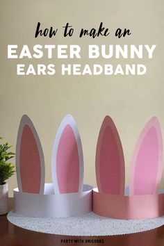 Easter Bunny Ears Headband - Craft for Kids Are you looking for a fun Easter Craft for kids? This Easter Bunny Ear Headband is a simple craft that comes with a printable template. These bunny ears will be a great addition to any Easter Egg Hunt outfit. Easter Arts And Crafts, Easter Activities For Kids, Easter Crafts For Toddlers, Bunny Crafts, Toddler Crafts, Preschool Crafts, Craft Kids, Kids Fun, Paper Easter Crafts