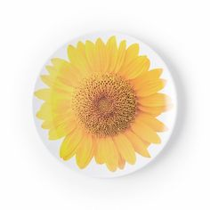 Kate Spade New York Patio Floral Melamine Accent Plate Sunflower