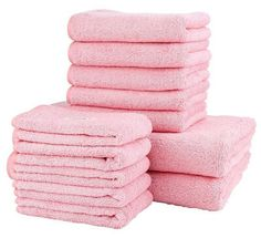 Crystallove 100% Cotton Face and Bath Towel Sets