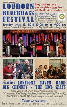 Loudoun Bluegrass Festival - Leesburg, VA  May 12, 2012