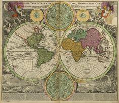 Johann Baptist Homann_ 1707_ Grand Atlas du Monde