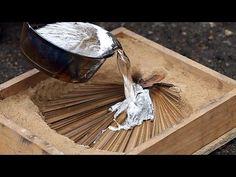 литье алюминия в песок  Homemade melted aluminum - YouTube