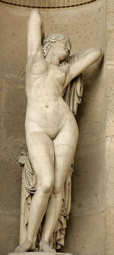 Élias Robert (1821-1874) |  Phryne.  Marble, 1855. North façade of the Cour Carrée, Louvre, Paris.