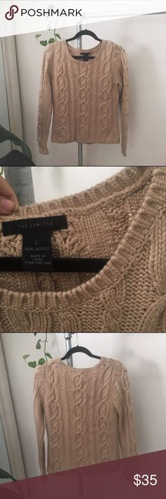 THE LIMITED/ chunky sweater ⱝ the limited ⱝ tan, light camel ⱝ thick & super soft cable knit ⱝ meant to be cuffed & loose ⱝ labeled large ⱝ def best fits an xsmall or small ⱝ basically perfect condition ⱝ price firm, offers will be politely ignored    » MAKE OFFERS! IT'S THE ONLY WAY TO GET A DEAL - I ALMOST NEVER LOWER MY PRICES.  » BUNDLE DISCOUNTS ARE ALMOST ALWAYS BETTER THEN 5% - JUST ASK.  » UNLESS IT IS FOR A BUNDLE, I WILL NOT RESPOND TO OFFERS IN COMMENTS The Limited Sweaters