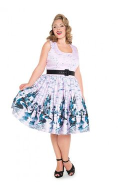 Or in pink??  Awesome for dapper day!  $144  Pinup Couture - Aurora Dress in Pink Castle Print | Pinup Girl Clothing