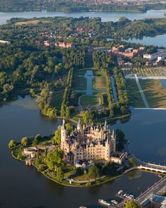 Schwerin Castle , is a schloss located in the city of Schwerin, the capital of Mecklenburg-Vorpommern state, Germany. It is situated on an island in the city's main lake, Lake Schwerin. Places Around The World, Oh The Places You'll Go, Places To Travel, Places To Visit, Around The Worlds, Travel Destinations, Travel Tips, Beautiful Castles, Beautiful World