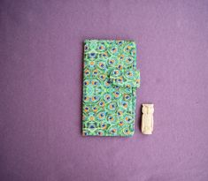 Turquoise Paisley Peacock feather Wallet Case Large от RabbitLia
