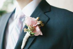 #boutonniere  Photography: Caroline Joy Photography - carolinejoy.com Floral Design: Petals by Design - petalsbydesign.us Coordination: Behind the Bash - behindthebash.net  Read More: http://stylemepretty.com/2012/11/13/houston-wedding-at-the-parador-from-caroline-joy-photography/