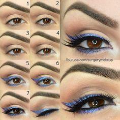 Violet Eyeliner Makeup Tutorial