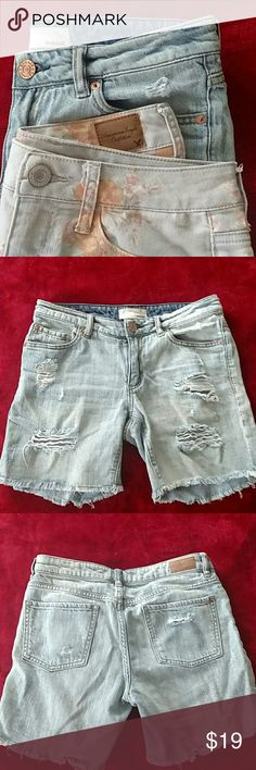 2 shorts (American Eagle & Garage) Gently worn, still great condition. The AE shorts are stretchy and a size 2. Garage shorts are like cutoff jeans and say size 0 but can fit a 2 as well. American Eagle Outfitters Shorts