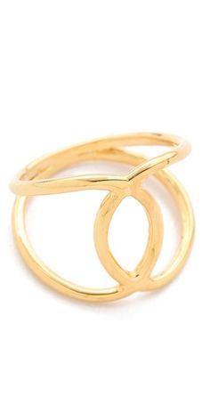 Jacquie Aiche JA Overlap Circle Ring | SHOPBOP
