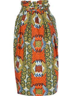 Stella Jean Printed High-Waist Skirt - Dolci Trame - farfetch.com
