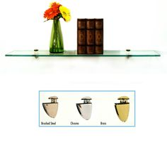 The Peacock Collection Glass Shelf is an attractive floating shelf which adds display space and style.