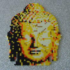 Buddha - 201407by001 - Geschenke - Liebevoll aus Perler Beads gearbeitete Dekoration Höhe 28cm