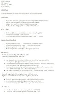 accountant resume template template sample - Tax Accountant Resume Sample