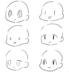 Drawing Heads, Human Drawing, Drawing Base, Human Art, Manga Drawing Tutorials, Art Tutorials, Anime Faces Expressions, Chibi Sketch, Art Assignments