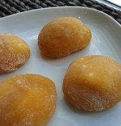 Easy microwave Mochi recipe with rice flour and ability to swap out fruit juices as the liquid to change flavor. Asian Desserts, Asian Recipes, Sweet Recipes, Japanese Dishes, Japanese Food, Japanese Treats, Japanese Recipes, Easy Microwave Mochi Recipe, Bento Recipes