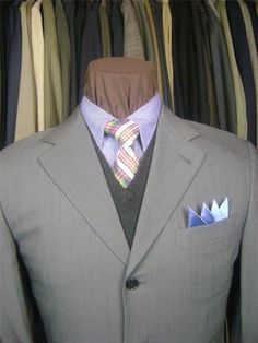 Handsome CANALI Mens 3 BTN Gray Olive Twill Wool Designer Suit #Aim2Win