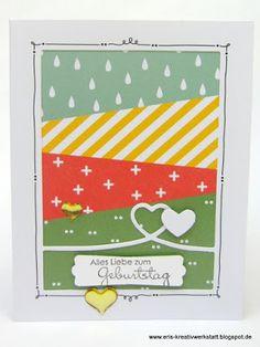 """#Geburtstagskarten mit dem #Projektset """"Grußelemente""""   http://eris-kreativwerkstatt.blogspot.de/2016/05/geburtstagskarten-mit-dem-projektset.html  #stampinup #teamstampingart #karte #geburtstag"""