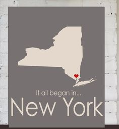 New York State Map, Custom Wedding Gift Heart, Unisex Anniversary, geographical Wedding Gift, Romance, Wedding Sign, Bridal Shower