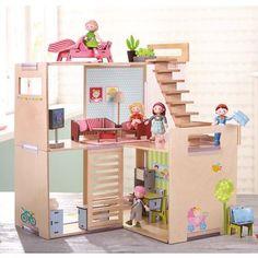 Haba Little Friends Puppenhaus Zub Frühjahrsputz