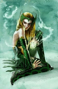 Enchantress Pin-Up from Girl Comics #3(can't wait to see her in the next Thor movie)  by Stephanie Hans