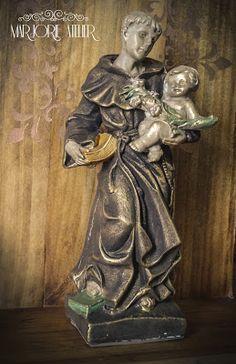 Decoupage, Religion, Santa, Statue, Shabby Chic, Rose, Diy, Plaster Crafts, Christmas Crafts