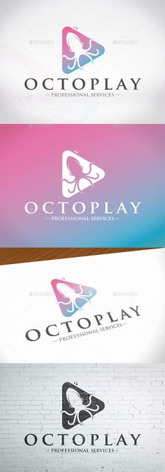 Play Octopus Logo Template - Animals Logo Templates Download here : https://graphicriver.net/item/play-octopus-logo-template/20475091?s_rank=268&ref=Al-fatih
