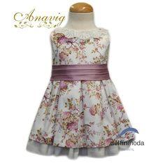 254aa7f8d Comprar Vestido de niña ANAVIG sin mangas estampado flores lila