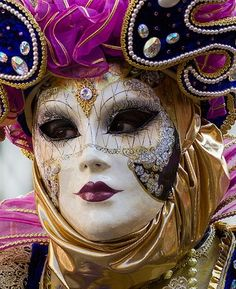 Venetian Mask and Costume...intricately decorated, just splendid!