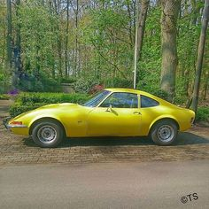 #opel #gt #opelgt #car #auto #hdr #picture #foto #photo #photography #automotivephotography #oltimer #alt #kult #edel #spaß #fun #funcar #images #bild #gelb #g #cc