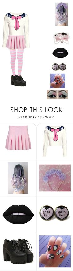 """""""kawaii"""" by unicorn-923 ❤ liked on Polyvore featuring H&M and Lime Crime"""