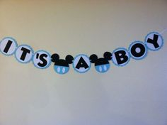 Mickey mouse baby shower banner - its a boy, ready to pop, baby boy Baby Shower Themes Neutral, Baby Shower Gender Reveal, Baby Boy Shower, Baby Shower Gifts, Mickey Mouse Baby Shower, Baby Mouse, Decoracion Baby Shower Niña, Mickey Mouse Banner, Shower Banners