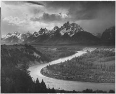 Picking a fav Ansel Adams for this board is hard - so many outstanding images.  I like this one because it exemplifies what Ansel was great at capturing: Geology, Weather and Geometrics.  The S curve of the river takes your eye from the foreground to the mountains, which in turn propel your eye into the interesting cloud formations.