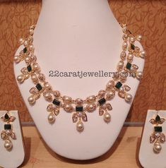 Diamond Balls South Pearls Necklace