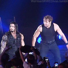 Dean Ambrose is making fun of Roman Reigns' antics.You're one to talk, mister. Roman Reigns Gif, Roman Reigns Family, Roman Reigns Dean Ambrose, Wwe Dean Ambrose, Wrestling Stars, Wrestling Wwe, Wwe Funny, Wwe Superstar Roman Reigns, The Shield Wwe