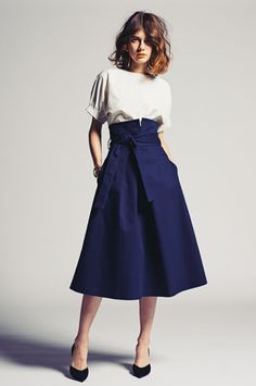 The cut of this skirt is beautiful and it's in a really flattering blue. That top isn't half bad either.
