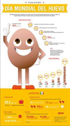 Día mundial del #huevo: #infografia sobre sus propiedades y su realidad