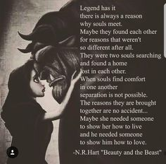 nr hart quotes beauty and the beast Dark Love Quotes, Soulmate Love Quotes, Love Quotes For Him, Cute Quotes, Words Quotes, Quotes To Live By, Sayings, Qoutes, Vintage Love Quotes