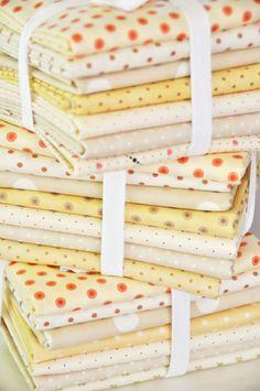 Dot bundles by Fig Tree Fresh Figs, Tree Quilt, Tips & Tricks, Fabric Storage, Gorgeous Fabrics, Vintage Fabrics, Fabric Patterns, Sewing Hacks, Fig Tree