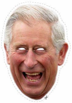 Free Prince Charles Cut Out Printable Mask #free #printable