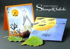 Gruseliges Kartendesign der hübschen Sorte. #stampinup #halloween