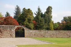 The walled garden entrance at Novar Estate near Inverness
