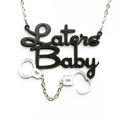 OH MY!,,,  Oh My!!!!!!  50/Fifty Shades of Grey Laters Baby Necklace With by urbancookieUK, $12.00