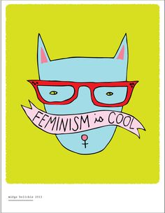 feminism is cool, i want this on a tshirt