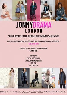 Multi-Brand Womenswear Sample Sale -- London -- 14/11-16/11