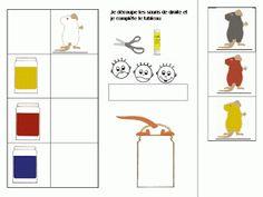 Maternelle: 3 souris peintres, exploitation en mathématiques, tableau à double entrée