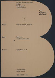 "garadinervi: ""Yale Symphony Orchestra 1987-1988 Season """